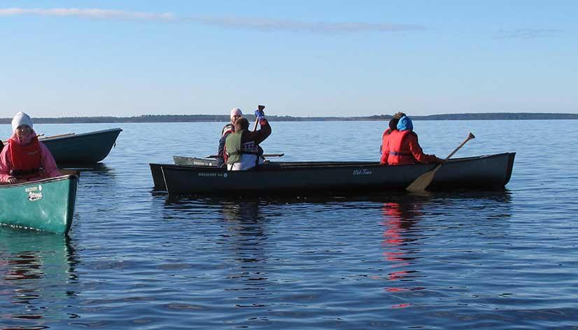 kajak och kanotpaddling
